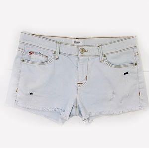Hudson Amber High Rise Frayed Lightwash Shorts